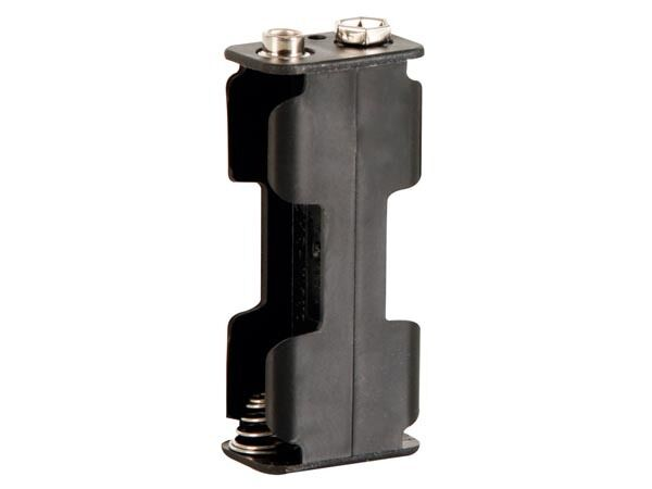 Velleman BH322B BATTERY HOLDER FOR 2 x AA-CELL (WITH SNAP TERMINALS)