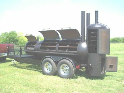 New Custom Bbq Pit Charcoal Grill Smoker Style Trailer