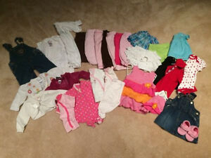 Lot of 0-6 month girl clothes