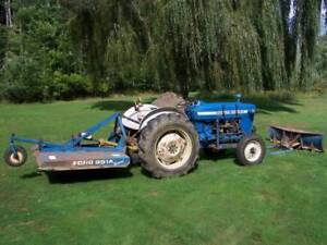 Ford 3000 Tractor- with Ford 951A Brush Chopper & 6 Ft Snow Plow