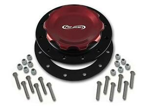 Pro-werks Easy Turn 4 1/4 in. Red Fill Cap w/Black Aluminum 12 Hole Bung