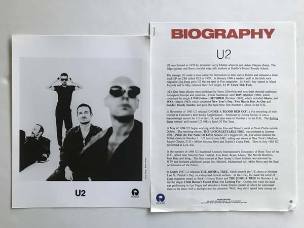 U2 1995 Presskit with Anton Corbijn 8x10 Publicity Photo