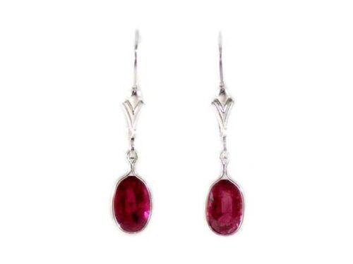 Gorgeous Ruby Earrings Ancient Celtic Magic Amulet Lightening Plague Antique Gem