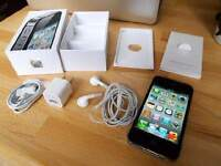 BLACK APPLE iPHONE 4S WITH CHARGER AND ORIGINAL BOX - KOODO