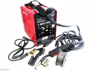Auto Wire Feed 120 Amp Mig Flux Welder Machine Mig Welding No Gas Weld 110v