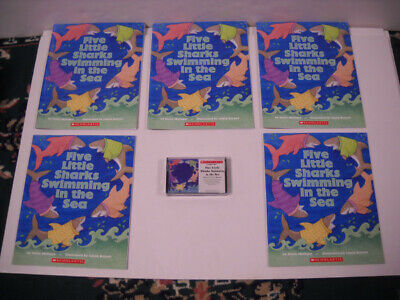 Five Little Sharks Swimming In The Sea 5 Paperback Listening Center W/ Tape