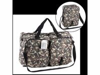 Brand New with tags&Unopened Envoy Travel Genie Holdall Instant Luggage Space Solution In Camoflage