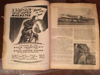 1955 MOTOR CYCLE magazine. Poster addition.