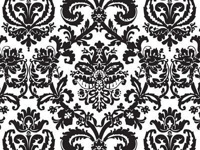 - BLACK FLOURISH Design Print Tissue Paper Sheets 20