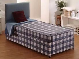 BRAND NEW SINGLE DIVAN BEDS + MATTRESSES + FREE DELIVERY