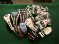 Assorted Golf Club Head Covers: Driver, Wood, Hybrid, Putter etc