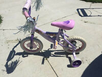 Little girls princess bike