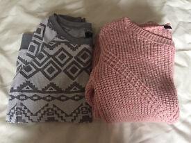 2 girls/women's jumpers size 8