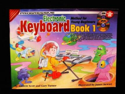 Electonic Keyboard Method for Young Beginners Book 1 + CD & DVD