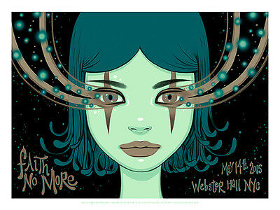 FAITH NO MORE silkscreened poster New York (night 2) 2015 by Tara McPherson