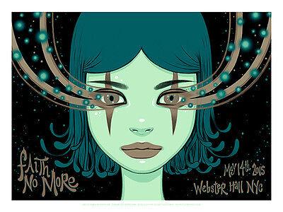 FAITH NO MORE poster New York (night 2) 2015 by Tara McPherson