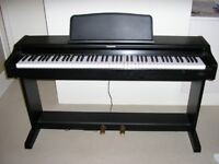 Technics SX-PC25 Digital Piano in satin black full size 88 weighted keys, 2 pedals, Steinway samples