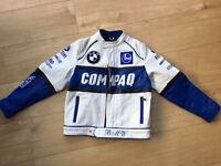 Kids genuine leather BMW motorbike jacket