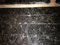 Black granite strips 6cm X 91cm