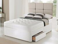 Brand New Double Divan Bed With Semi Orthopedic Mattress Only £89 FREE DELIVERY