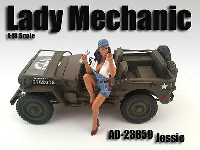 LADY MECHANIC - JESSIE - 1/18 scale figure/figurine - AMERICAN DIORAMA