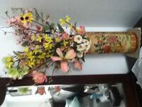 pot avec des fleurs