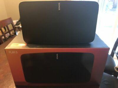 Sonos Play:5 2nd Gen Wireless Multi-Room Speaker - Black Excellent Condition