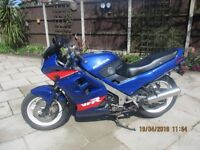 One of a kind 700 cc VFR Honda. Maybe the only one in the UK. It's an Interceptor from the USA.