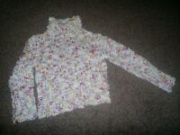 Girls Sweater Age 5 To 6 Years with High Neck