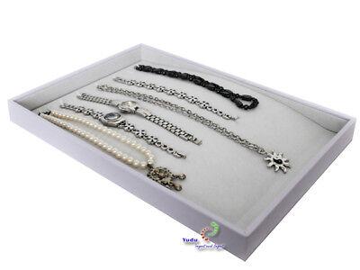 Vorlagebrett Schmuckkasten für lange Ketten Armbänder Halsketten Uhr weiss