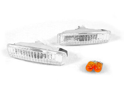 DEPO Euro Clear Fender Side Marker Light + Amber Bulb For 97-03 BMW E39 5 Series