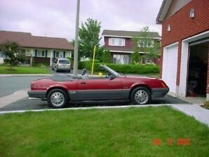 1985 Mustang GT Convertible 351W 5.8 5 speed, 145km one owner.