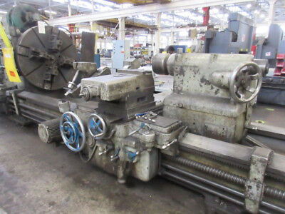 52 Swing X 58 Center Engine Lathe Leblond Dual Carriage Heavy Duty 100 Hp