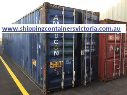 40ft Hi Cube Shipping Container. Agrade. Inspection Welcome. Sunshine West Brimbank Area Preview