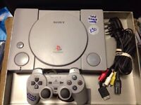 Sony PlayStation 1 fully tested and working Comes with an official Playstation control pad