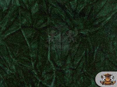 Velvet Crushed HUNTER GREEN Upholstery Fabric / 54