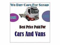 Cash For Scrap Car Luton Bedfordshire, Hemel Hempstead, St Albans