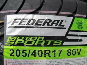 Brand New Set of 4 Tires Federal 205/40R17