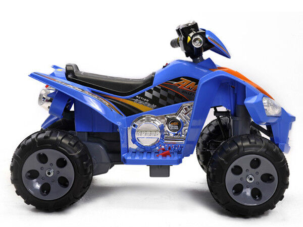 Minimotos Kids 4 Wheeler Ride on 12V Powered Wheels Quad ATV Blue