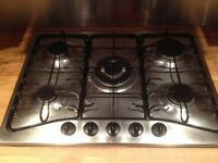 **JAY'S APPLIANCES**5 BURNER/RINGS GAS HOB**STAINLESS STEEL**GOOD CONDITION**DELIVERY**