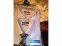 Pack of two shirts with matching tie 16 in neck and tie set only £12