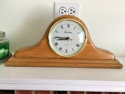 Quartz Mantel clock centerpiece finished oak