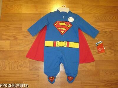 DC COMICS BABY BOY SUPERMAN OUTFIT W/ CAPE~HALLOWEEN COSTUME~NEWBORN~0-3 M~NWT - Baby Boy Superman Halloween Costumes