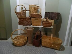 12 Baskets various sizes & shapes