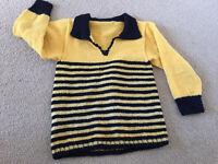 Handmade kid's wool jumper