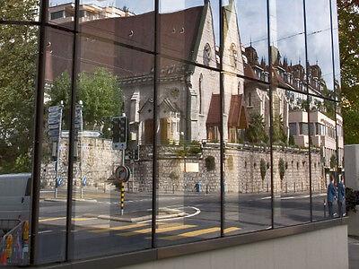 Spiegelfolie - Sonnenschutzfolie Silber dunkel innen - Sichtschutz 0,91 m x 1 m