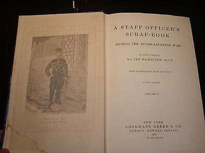 Rare Antique Book    A Staff Officers Scrap Book  During The Russo Japanese War
