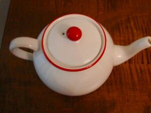 VINTAGE ARTHUR WOOD ENGLAND RED DOT TEAPOT, RARE Kitchener / Waterloo Kitchener Area image 3
