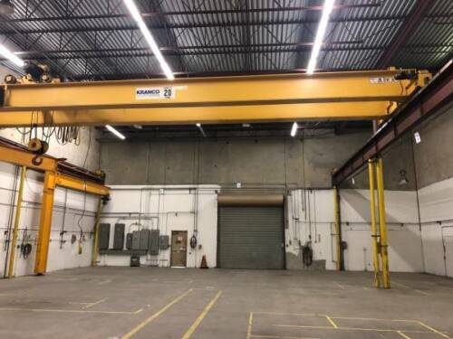 20 TON OVERHEAD CRANE- PICK UP ONLY
