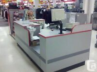 Zellers counter , Counter with side desk.